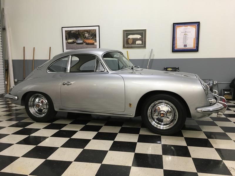 PCA Garage - Silver metallic 1963 Coupe Super, T6 Porsche