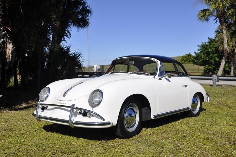 PCA Garage - Ivory 1959 356A Hard Top Porsche