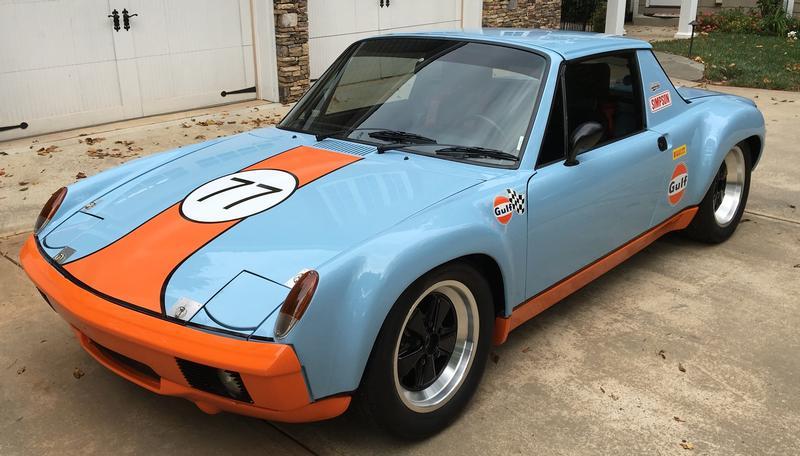 PCA Garage - Gulf Blue/Orange 1975 914-6 Porsche