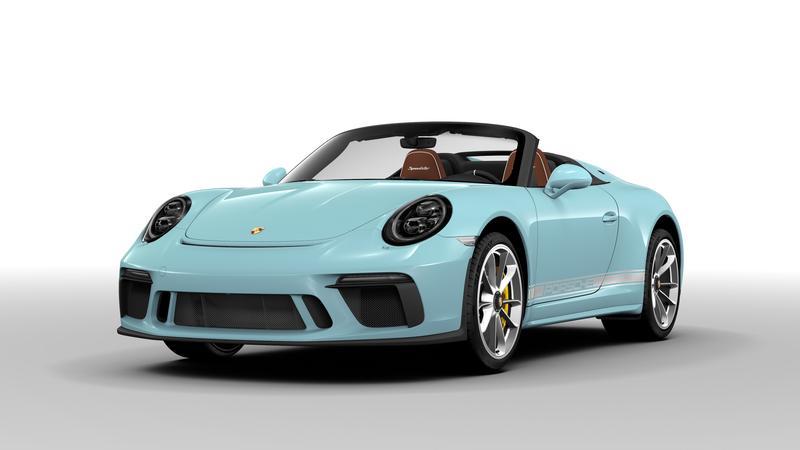 PCA Garage - Meissen Blau 2019 Speedster Porsche