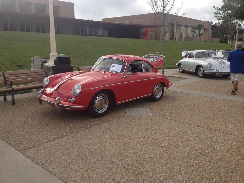 PCA Garage - SIGNAL RED/BLACK 1964 356C SUNROOF Porsche